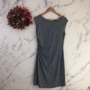Ann Taylor Ruched Wool Sheath Dress